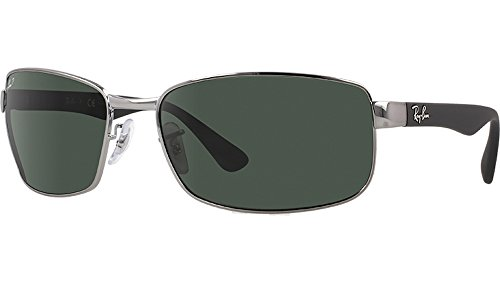 Ray-Ban Unisex RB3478 Gunmetal/Crystal Green Polarized One - Arms Ban Ray