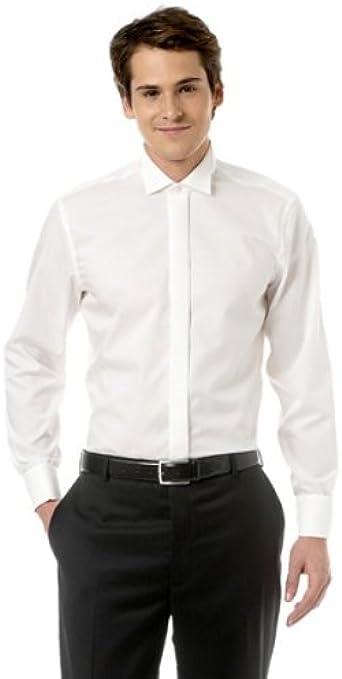 Smoking Camisa seidensticker, 100% BW, crema + Moscas Tamaño: 38: Amazon.es: Ropa y accesorios