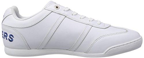 Dockers by Gerli 28PE01 - zapatilla deportiva de cuero hombre blanco - Weiß (weiss 500)