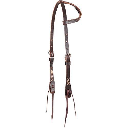 Martin Saddlery Rawhide Laced Chocolate Single Ear Headstall ()
