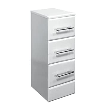 Badezimmerschrank Schubladen : Badezimmerschrank mit 3 Schubladen 35 x 33 cm B T Hochglanz