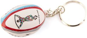 Gilbert Men's Official Harlequins English Premiership Team Rugby Keyring Ball Box