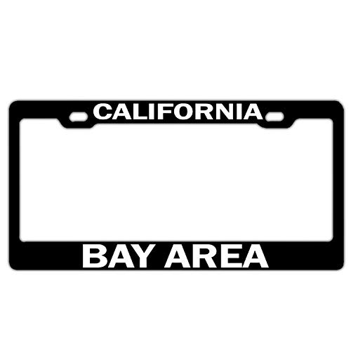 California Bay Area Black License Plate Frame Aluminum Metal Car Licenses Plate Covers License Tag 2 Hole and Screws (Best Trees For Bay Area)
