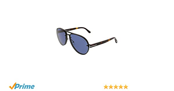 8f2b37a34c Sunglasses Tom Ford FT 0622 Alexei- 02 12V shiny dark ruthenium blue at  Amazon Men s Clothing store