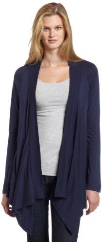 Very Light Jersey Cardigan - Splendid Very Light Jersey Drape Cardigan, Navy, SM (Women's 2-4)