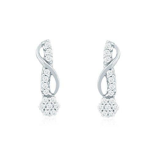 Giantti Diamant pour femme pendantes Boucles d'oreilles (0.24CT, qualité HSI, Gh-colour)