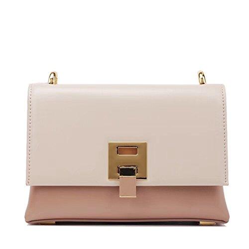GMYANDJB Shoulder Bags Women Pink Color Bags Small Flap Black Purse Corssbody Handbag Women's Shoulder Messenger Bag Red Sac Femme - Pink,20x14x7cm