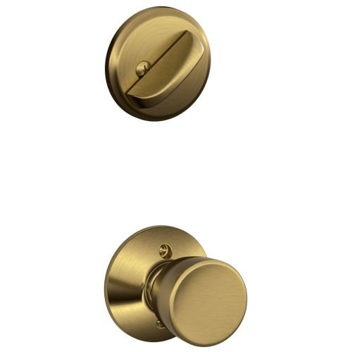 Bell Brass F-series Bell (Schlage F59BEL609 Interior Pack Bell Single Cylinder Interior Pack from the F-Series, Antique Brass)