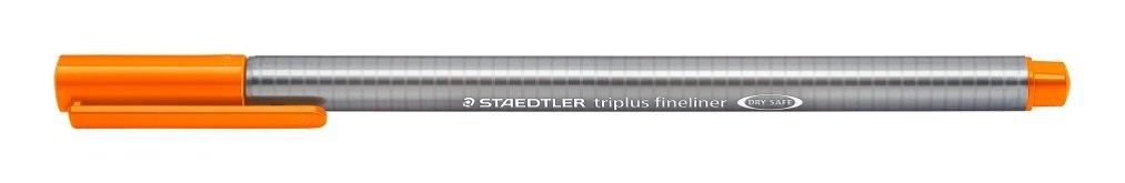 Pack of 4 Staedtler 334 Triplus Fineliner Superfine Point Pens 0.3 mm Assorted Colours