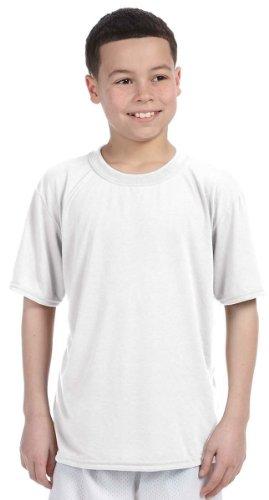 Gildan 42000B Youth Core Performance T-Shirt - White - XS