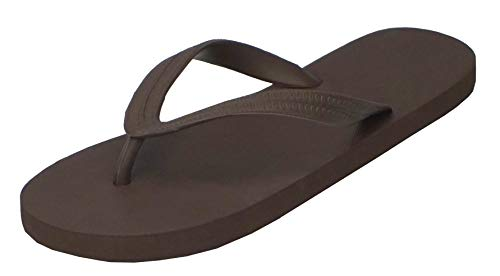 Brown Rubber Thong - Hipper Women's Soft Comfortable Rubber Flip Flop Thong Sandal (9 B(M) US, Coffee)