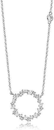 ACCTSY Para Mamá Regalo Astilla 925 Collar Colgantes De Diamantes Blancos Joyería para Mujeres 925 Mujer Bizuteria Colgantes De Piedras Preciosas