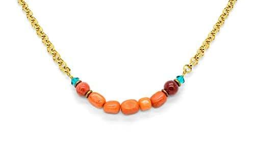 WARM AUTUMN NIGHTS Mixed Stone Necklace Made With Gemstone & Swarovski Crystal *Pick Your Finish *Karnas Design Studio