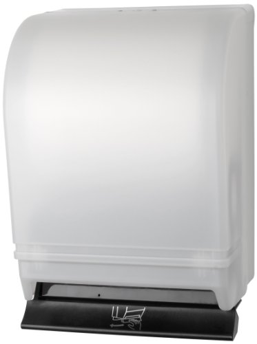 Palmer Fixture TD0215-03 Auto-Transfer Push Bar Roll Towel Dispenser, White Translucent