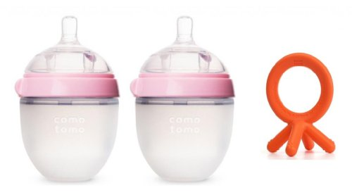 Comotomo Ounce Bottles BONUS Teether
