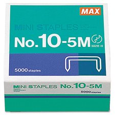 Mini Staples, For Use In Max HD-10DF, 3/8