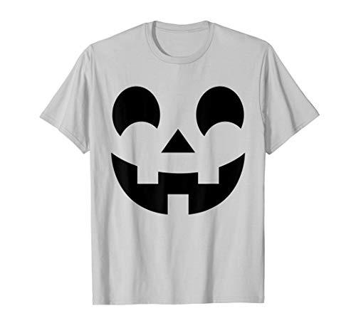 Jack-O-Lantern Face Halloween Shirt Pumpkin Costume Kids -