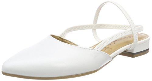 Sandals Back Women's 117 Leather Tamaris white 29408 White Sling qPApIt