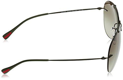 Gafas Feather Green Sol para Demi Hombre Prada Linea Military Shiny Red Rossa de BwnRRItvq