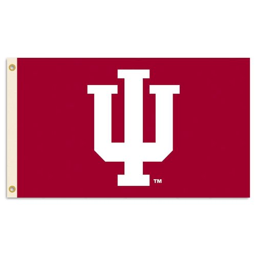 Indiana Hoosiers Metal (NCAA Indiana Hoosiers 3-by-5 Foot Flag With Grommets)