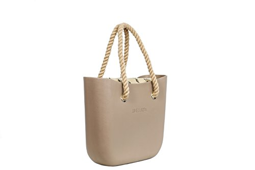 Lime & Soda Women's Fashion Eva Handbag - Rope Handles - Mix & Match to find your style (Beige 2)