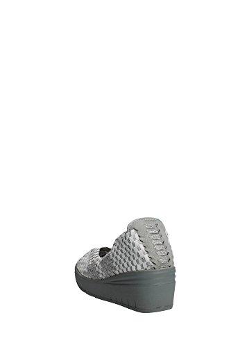 Grünland SELA SC1912 zapatos blancos mujer resbalón en cuña elástica Bianco