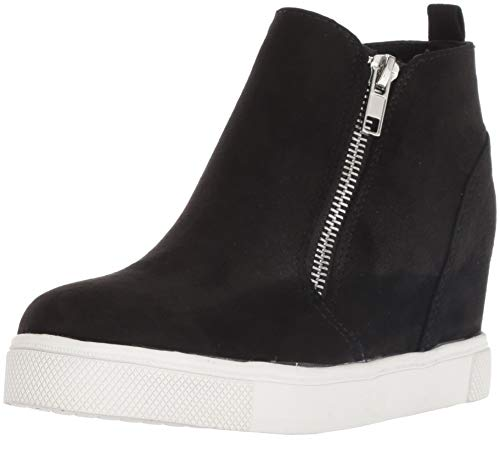 Steve Madden Girls' JWEDGIE Sneaker, Black, 2 M US Little Kid