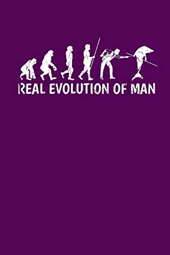 Real Evolution of Man: Blank Lined College Ruled Paper for Your Creative Side por Slick Billiards