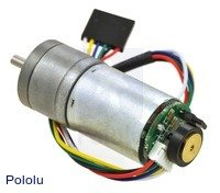 Pololu 47:1 Metal Gearmotor 25Dx52L mm LP 6V with 48 CPR (1 Gearmotor)