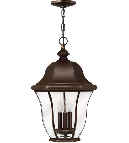 Outdoor Pendant 3 Light Fixtures with Copper Bronze Finish Solid Brass Material Candelabra 13