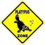 PLATYPUS ZONE aquatic zoo australia pet sign