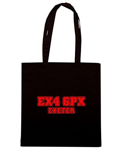 T-Shirtshock - Bolsa para la compra WC1153 exeter-postcode-tshirt design Negro