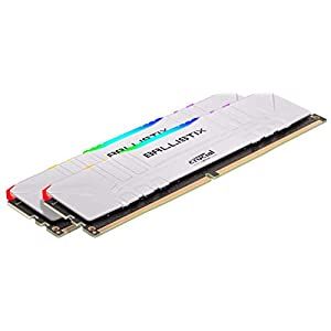 Crucial Ballistix RGB 3200 MHz DDR4 DRAM Desktop Gaming Memory Kit 16GB (8GBx2) CL16 BL2K8G32C16U4WL (WHITE)