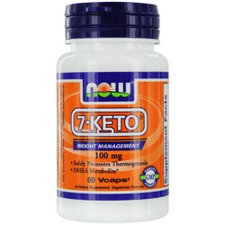Now - 7-KETO Weight Management 100 mg- 60 Vcaps