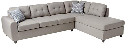 Coaster Home Furnishings Living Room Sectional Sofa, Grey