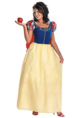 Disguise Women's Disney Snow White Deluxe Costume, Yellow/Red/Blue, Medium ()