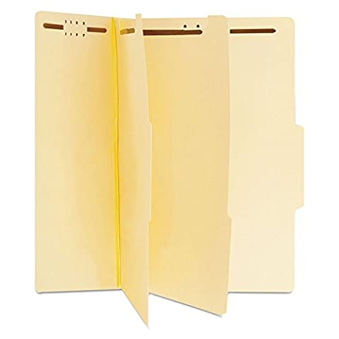 Universal 10300 Manila Classification Folders, Letter, Six-Section (Box of 15) - Manila Divider