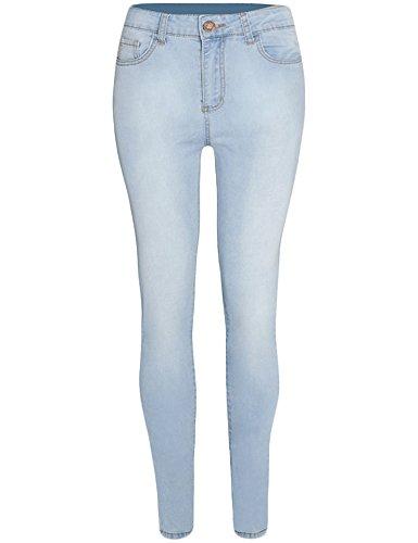 Women's Bleach High Waist Slim Skinny Leg Jeans
