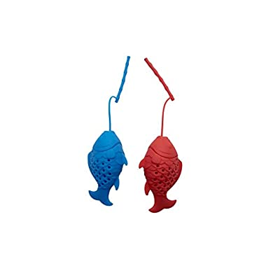 Blisslii  FISHING  TEA INFUSERS GIFT SET (Variety Pack of 2)! Premium quality 2 Colorful Mood Fish filters for Tea lovers Party - Loose Tea Leaf Strainers, Diffusers, Herbal Spice Filters.