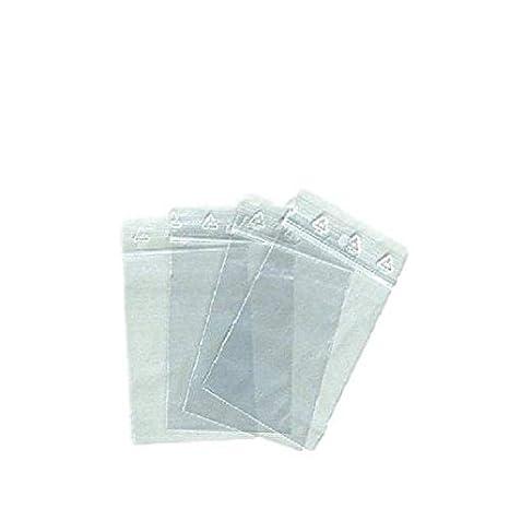 Lote de 100 bolsas de plástico con cierre zip de 4 x 6 cm – 40 x 60 mm
