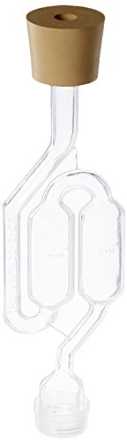 3ct. - S-Shape Airlock with #6 Stopper - Set of 3 (Bubble Airlock)