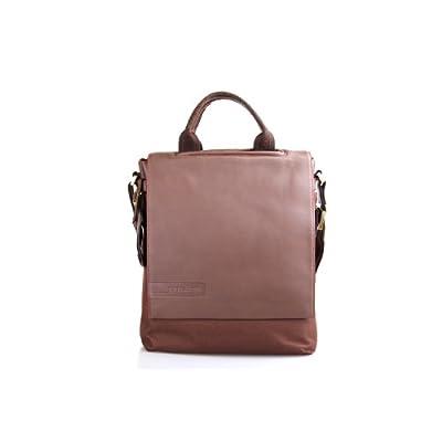 5bf590c9a925 Haagendess Men Genuine Leather Double Shoulder Tote Strap Briefcase Bag  Brown on sale