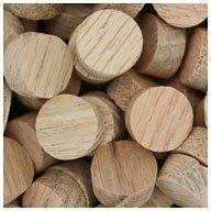 WIDGETCO 1/2'' Oak Wood Plugs, Face Grain