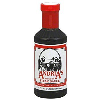 Andria's Brush On Steak Sauce, 15 Ounce Bottle (Case of 12)