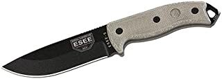 product image for ESEE Knives ESEE-5P-KO-E, Esee-5, Plain Edge, Black Blade, Knife Only, No Sheath