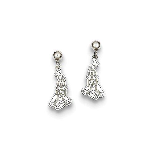 Best Birthday Gift Sterling Silver Disney Goofy Dangle Post Earrings Goofy Jewelry