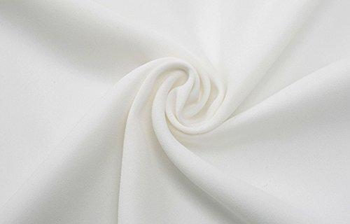 Femme Blouse Chic Longues Classique Fluide Manches Chemise Casual Yidarton Blanc Top 7xZ5TB