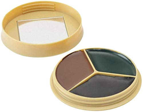HME 3 Color Camo Face Paint Kit with Mirror ()