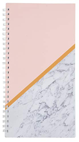 (Salon Appointment Book - 3-Column Schedule Book, Undated Appointment Planner for Hairdresser, Stylist, Nail Salon, Massage Spa, Pink with Marble Print Cover, Spiral Bound, 200 Pages, 13.5 x 7 Inches)