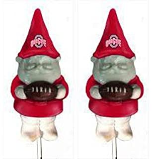NCAA Ohio State Buckeyes Gnome Plant Pick 2 Pack